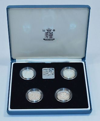 1994-1998 English Proof Sterling Silver 5 Piece Coin Set *Q57