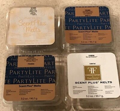 New!!! PARTYLITE Lot Of 4 Scent Plus Melts Wax Melts Warmer 9 Piece