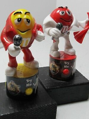 A Pair Of Very Rare M&M Elvis Presley Candy Toppers