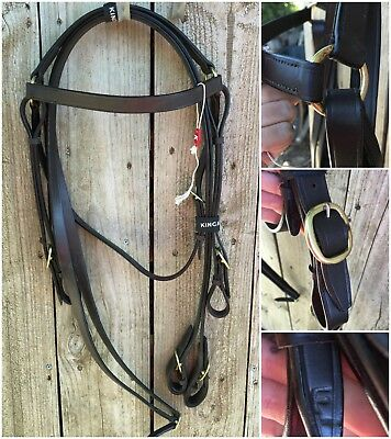 New Kincade barcoo bridle with reins.