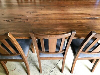 """Dining Set: 8 Person Oak Finish Dining Table with 8 """"macro suede"""" Dining Chairs"""