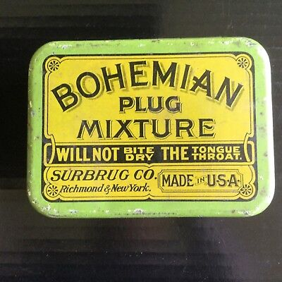 Bohemian Plug Mixture Tobacco Tin ( USA )