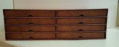 Collector Plate Storage Box Fits Bradford Exchange & Danbury Mint With 8 Drawers