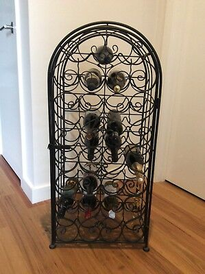 Metal Wine Rack ~ 35 Bottles ~ Solid & Sturdy ~ Stylish