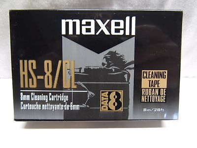 Maxell 8Mm Video8 Hi8 D8 Digital8 Data8 Head Cleaning Cleaner Clean Tape Br New