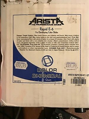 Arista Rapid E-6 Color Chemicals - NEVER USED, NEVER OPENED!