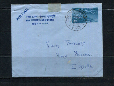 India 1954 Souvenir Pse Air Mail Stamp Cover Commemorating Centenary  Lot 236
