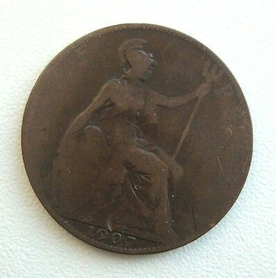 Great Britain 1/2 Penny 1907 Bronze Coin