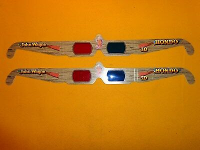 JOHN WAYNE - HONDO - 3D Movie Glasses - 1991 Hollywood, CA