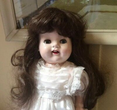 """Beautiful Collectable Antique Pedigree Vintage Doll 21""""Tall Hard Plastic 50's"""