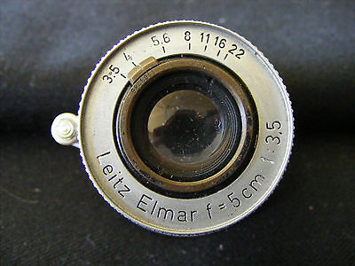 Vintage Lietz Elmar f/5cm 1:3.5 Lens to suit Leica Screw Thread Camera Body Red