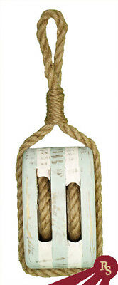 """15"""" WOODEN BOAT PULLEY - Fish and Tackle - NAUTICAL"""