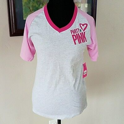 NWT Zumba Fitness - Party In Pink V-Neck Original Zumba Product XS/S Extra Small