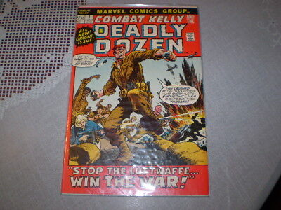 1972 Combat Kelly And The Deadly Dozen #1 Marvel Comic Book