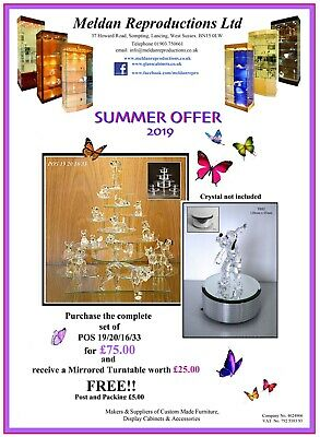 Glass display stands for Swarovski crystal SUMMER OFFER