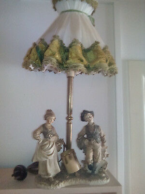 Interesting Vintage Collectable Table Lamp + Shade