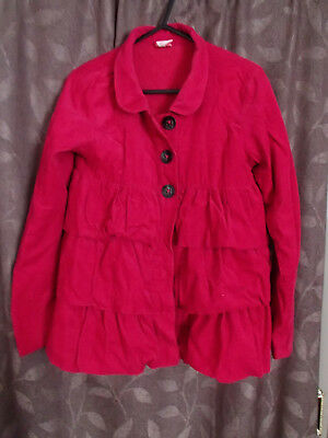 Girls Pumpkin Patch tiered pink/raspberry size 11 lined jacket