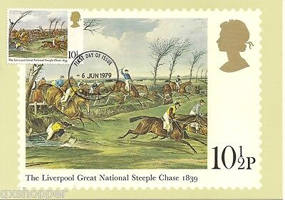 The Liverpool Great National Steeple Chase First Day Issue 10 1/2p Stamp
