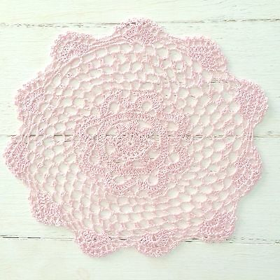 28 Cm New Pink Crochet Lace Doily