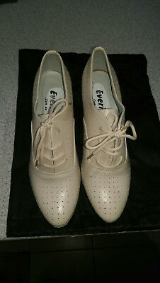 BRAND NEW Everise Cream Leather Dance Boots Size 8!
