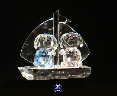 """[SPECIAL OFFER] """"Sailing Dogs"""" Austrian Crystal Figurine was AU$73.00"""