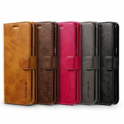Ultra Thin Luxury Leather Flip Wallet Case Cover For Samsung S8 S9 Plus S7 S6 A3