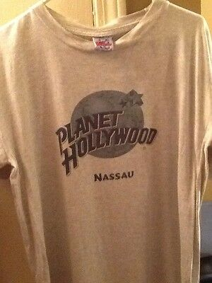 Nassau Bahamas Planet Hollywood T-Shirt Size Medium Heather Grey. Hard To Find!