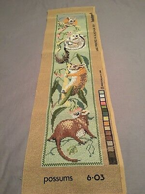 1983 Baxtergrafik Tapestry Canvas ~ Possums