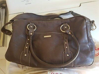 Storksak Elizabeth Leather Nappy Bag Baby Tan Leather Excellent Condition
