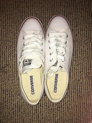 Converse White Dainty Low Tops Size 7