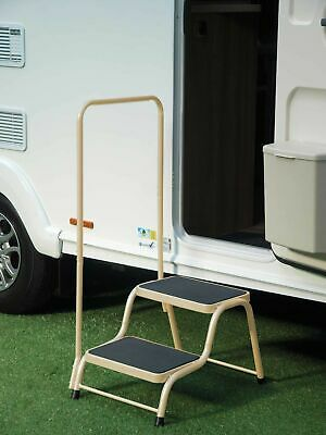 Quest Double Caravan Step with Handrail