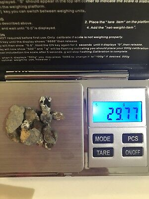 Silver Zinc Iron Nuggets 29.77 grams