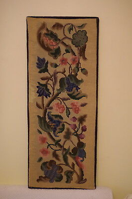 Large Vintage Tapestry Needlepoint Embriodery 36 x 14.5 inches