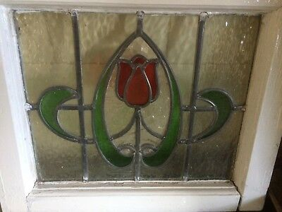 Original Leaded Stained Glass Window Period Panel