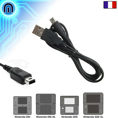 Cable Chargeur USB Sync pour Nintendo 3DS XL N3DS 2DS DSi NDSi LL