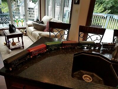 cast iron pennsylvania rail road train set
