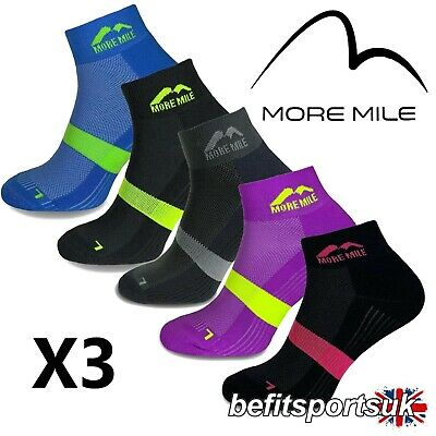 More Mile Mens Womens Ladies Preventer Twin Skin Blister Running Sports Socks 3