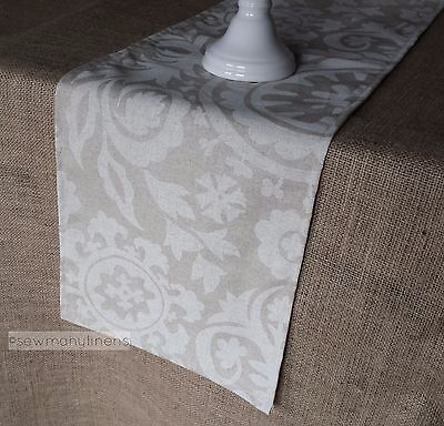 Beige Tan Taupe Ivory Table Runner Kitchen Dining Home Decor Centerpiece  Linens