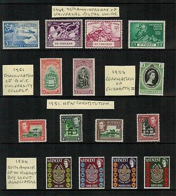 Lot of St.Vincent Old Stamps MNH/MLH/Used