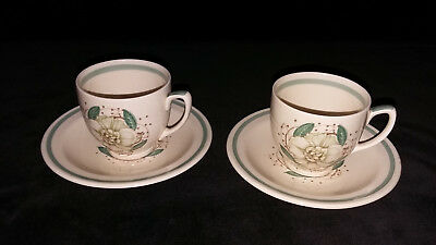 Susie Cooper Gardinia Coffee Cups and Saucers.