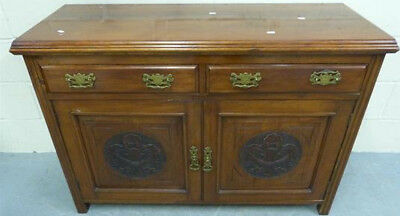 Antique original Art Nouveau carved sideboard,end 19th Century