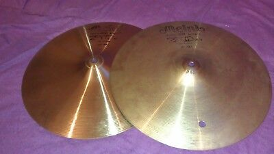 """PAIR Meinl Silver Line 70 14"""" hihat cymbals  Made in Germany slight use only vgc"""