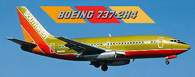 Southwest Airlines Boeing 737-2H4 80s Logo Handmade Photo Magnet (PMT1570)