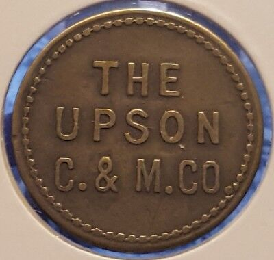 The Upson Coal & Mining Co Newark Ohio Good for 2 1/2c in Merch Token UNLISTED