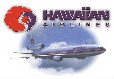 "Hawaiian Airlines Logo 3.25""x2.25"" Collectibles Handmade Fridge Magnet (LM14037)"