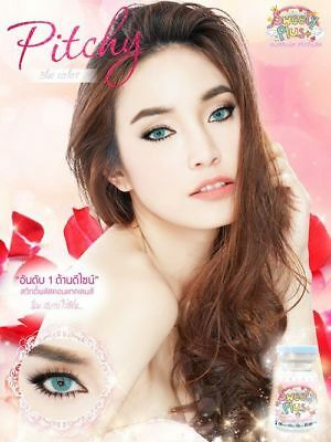 Sweety Plus Pitchy Color Contact Lenses * Gray , Green , Blue ,brown* 6 Month *