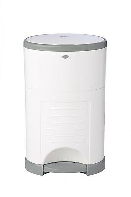 Diaper Pail Refill Hands Free Odorless Baby Trash Can Disposal System White