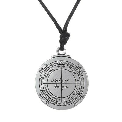 Talisman Protection Good Luck Wealth Solomon Pentacle Seal Necklace Amulet