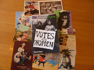 Suffragette Timeline Book with 9 free suffragette postcards