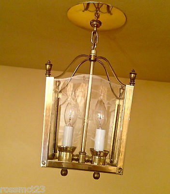 Vintage Lighting Mid Century foyer pendant by Moe